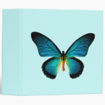 Blue Butterfly Binder