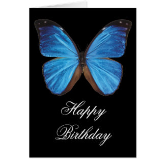 Blue Butterfly Birthday Greeting Card
