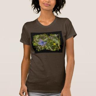 Blue Butterfly Black Edge T-Shirt