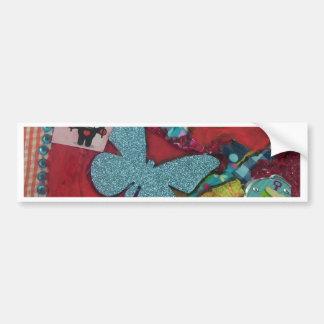 Blue Butterfly Bumper Sticker
