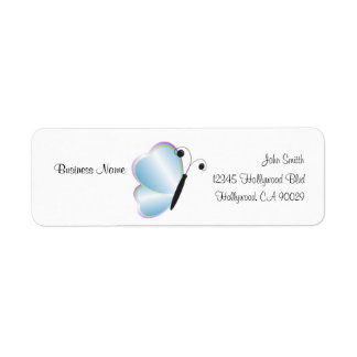 Blue Butterfly Business Address Label