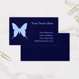 Erfly Shaped Business Cards Arts