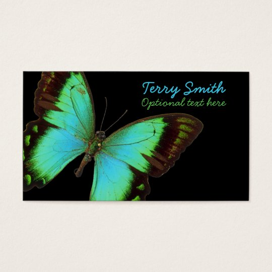 Blue butterfly business card zazzlecom for Butterfly business cards