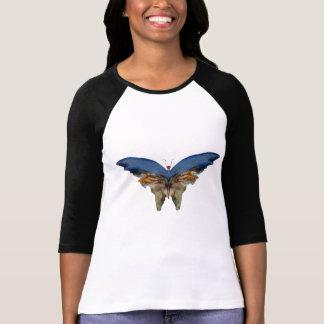 Blue Butterfly by Albert Bierstadt - Vintage Art T-Shirt