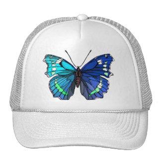 BLUE BUTTERFLY CAP TRUCKER HAT