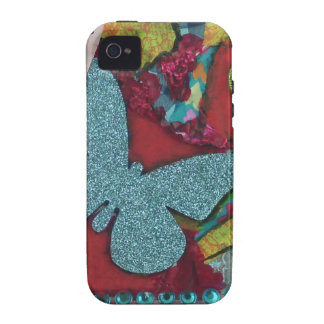 Blue Butterfly Case For The iPhone 4