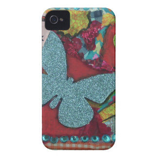Blue Butterfly iPhone 4 Case-Mate Cases