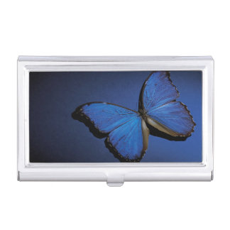 Blue butterfly case for business cards