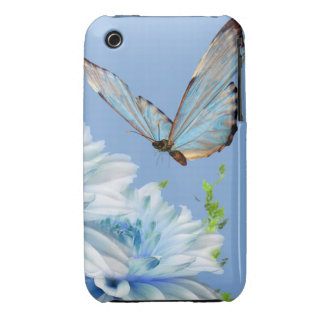 Blue Butterfly Case-Mate iPhone 3 Case