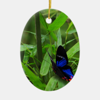 blue Butterfly Ceramic Ornament