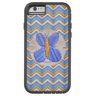 Blue Butterfly Chevron Tough Xtreme iPhone 6 Case