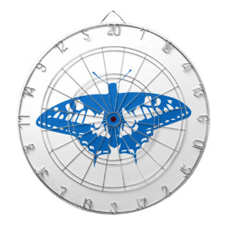Blue Butterfly Dartboard With Darts
