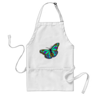 Blue Butterfly Design Adult Apron