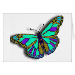 Blue Butterfly Design Cards