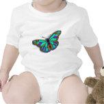 Blue Butterfly Design T Shirt