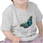 Blue Butterfly Design Tees