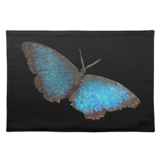 blue butterfly ( digital image ) cloth placemat