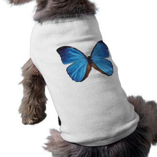 Blue Butterfly Dog Shirt