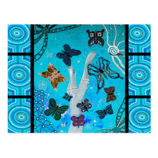 Blue Butterfly Dreaming Postcard