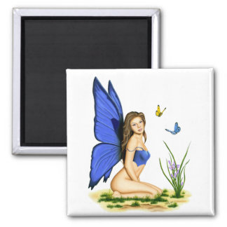 """Blue Butterfly Fairy""  Magnets"