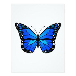 Blue butterfly flyer