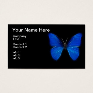 Blue Butterfly Flying Insect Business Card