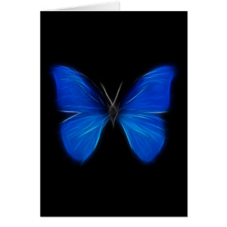 Blue Butterfly Flying Insect Card