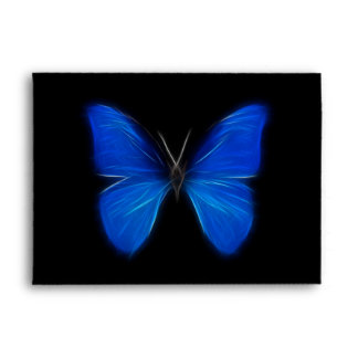Blue Butterfly Flying Insect Envelope