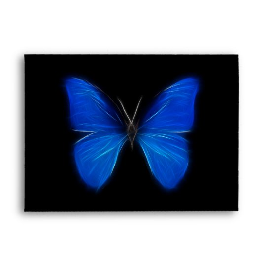 Download Blue Butterfly Flying Insect Envelope | Zazzle.com