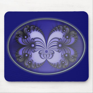 Blue Butterfly Fractal 200706070030 Mouse Pad