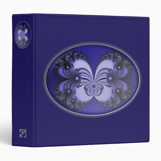 Blue Butterfly Fractal Binder