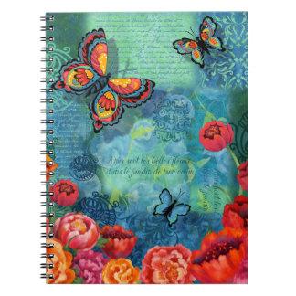 Blue Butterfly Garden Notebook
