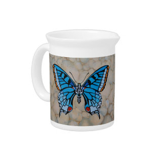 Blue Butterfly Gifts Drink Pitcher