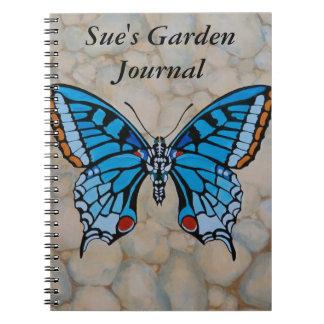 Blue Butterfly Gifts Spiral Notebook