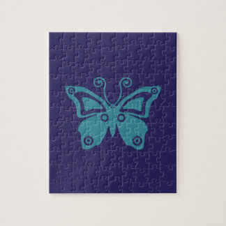 Blue Butterfly Good Vibes Serie Jigsaw Puzzle