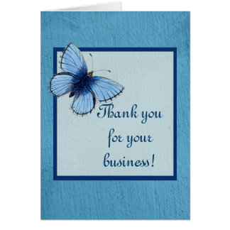 Blue Butterfly Handmade Soap Stationery Note Card