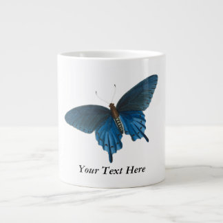 Blue Butterfly Illustration Large Coffee Mug