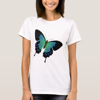 Blue Butterfly Illustration T-Shirt