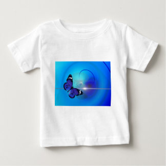 Blue Butterfly Image Baby T-Shirt