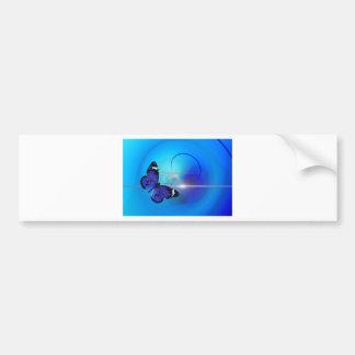 Blue Butterfly Image Bumper Sticker
