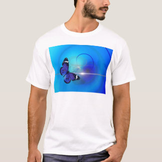 Blue Butterfly Image T-Shirt
