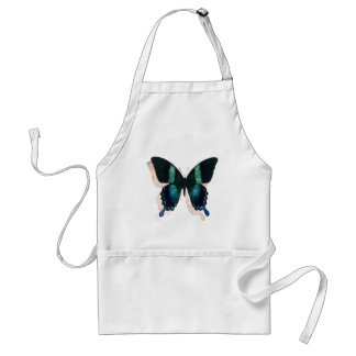 """""""Blue Butterfly"""" Insect Watercolor Art Adult Apron"""