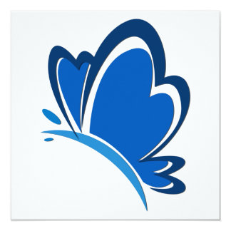 Blue Butterfly Invitations
