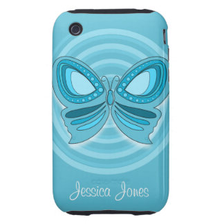 Blue butterfly iPhone 3G/3GS Case-Mate iPhone 3 Tough Cases