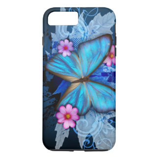 Blue Butterfly iPhone 7 Plus Case