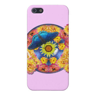 Blue Butterfly Kaleidoscope floral Cover For iPhone 5