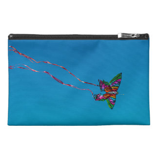 Blue Butterfly Kite Travel Accessory Bag