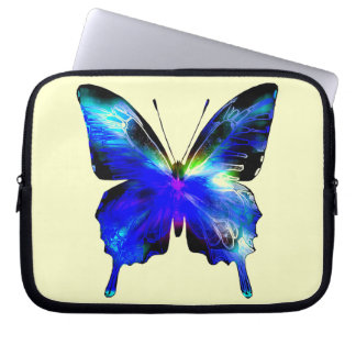 Blue Butterfly Laptop case with zipper