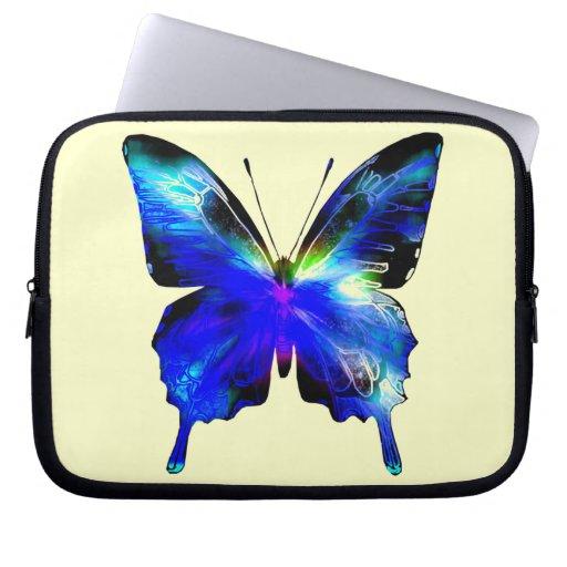 Blue Butterfly Laptop case with zipper Laptop Sleeve