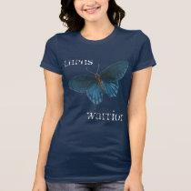 Blue Butterfly Lupus Warrior T-Shirt